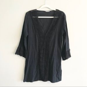 La Blanca | Black Lace Coverup